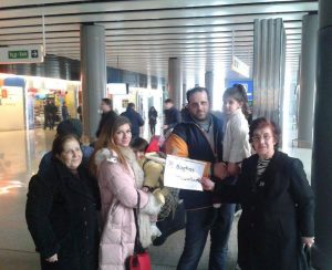 Boulboulian family in Zvartnots airport
